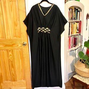 Vintage Sequin Maxi Muumuu Dress